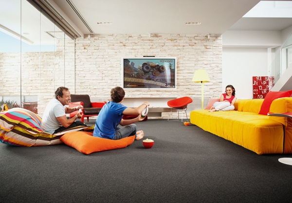 Deep colours make for a great family fun zone! We have this in our current catalogue at www.fowles.com.au/carpet