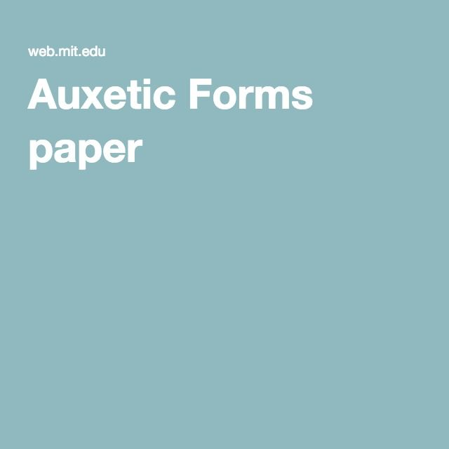 Auxetic Forms paper