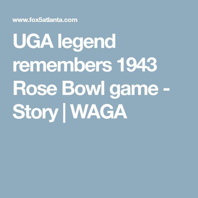 UGA legend remembers 1943 Rose Bowl game - Story | WAGA
