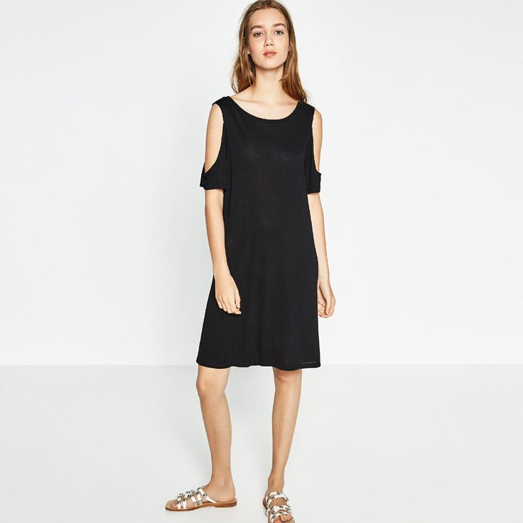 New Summer Fashion Loose Plus Size Women Dress Strapless Casual Dress Off The Shoulder Sleeve Tees Dress For Women NC-1138