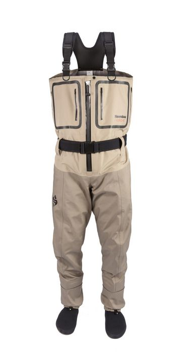 Geo-5 Zip-Fronted Breathable Waders  Our top of the range Zip-Front model is fitted with the latest, top quality German TiZip®, Masterseal 10 waterproof zip. These are normally reserved for diving and chemical weapons suits so are guaranteed airtight and watertight.  Fitted with two welded chest pockets, plus two fleece lined side hand-warmer pockets - all fitted with the latest design of water resistant zips.