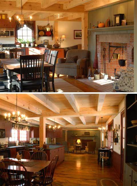 Farm House Kitchens: Early New England Homes: Charmingly