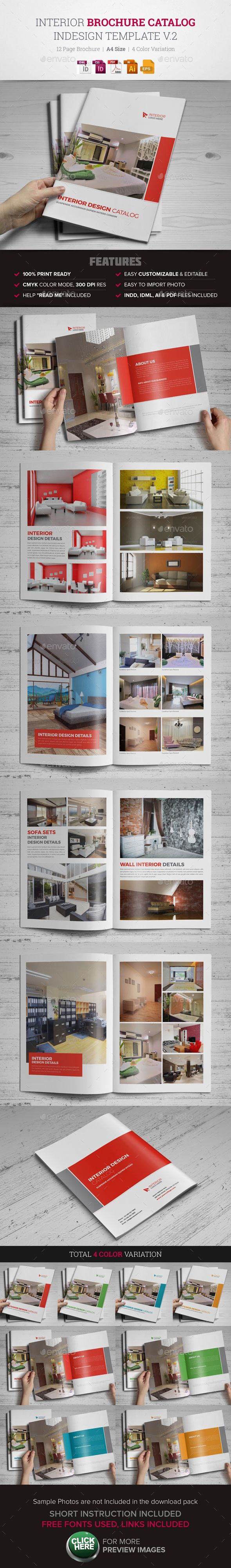 Interior Brochure Catalog 12 Pages Template InDesign INDD, EPS, AI #design Download: http://graphicriver.net/item/interior-brochure-catalog-indesign-template-v2-/13391658?ref=ksioks