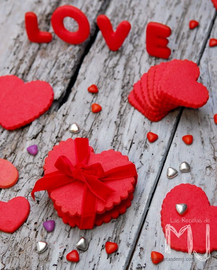 """Galletas de mantequilla """"San Valentin"""" / Butter cookies """"Valentine's day"""""""
