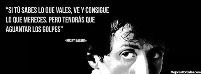Frase de Rocky Balboa - Portada Facebook