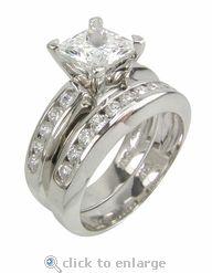 7 best CZ Princess Cut Cubic Zirconia Jewelry images on Pinterest