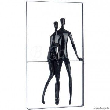 """J-Line Zwarte abstracte kader koppelje-man en vrouw zwart 50H <span style=""""font-size: 0.01pt;"""">Jline-by-Jolipa-55432-kader-kunstkader-cadre-tableau-canevas-canvas-cadre-toile-cadres-tableaux-ca</span>"""