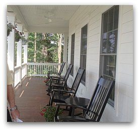 wrap around front porch Olentangy Falls, New England Homes