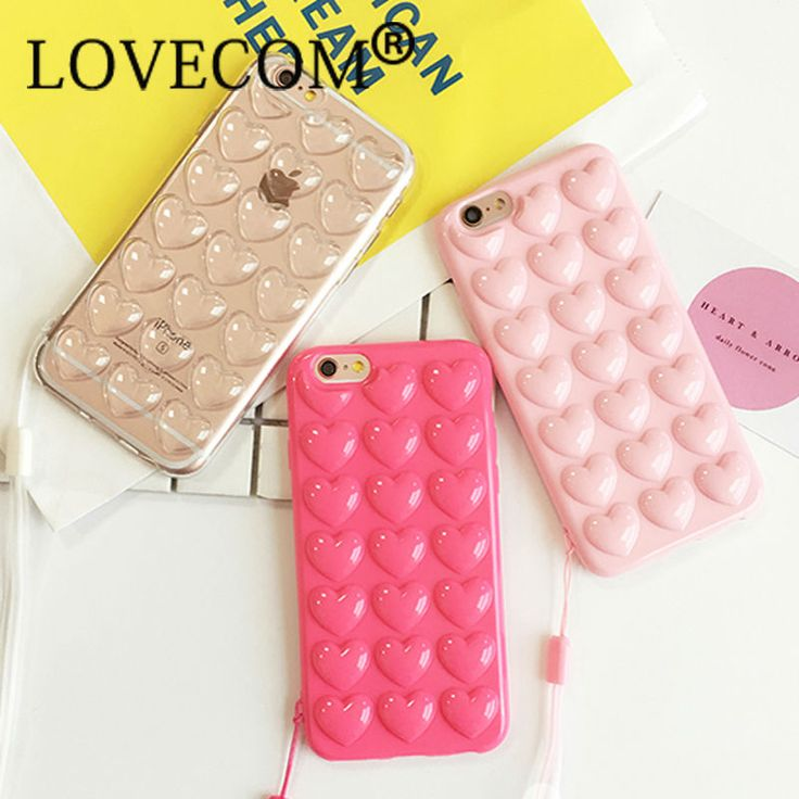 For iphone 6 6s Case Korean Love Heart Jelly Candy Soft Silicone TPU Back Cover Phone Case For iphone 6 6S 7 Plus Fundas Coque