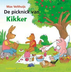 De picknick van Kikker  Er gebeuren rare dingen rond het huisje van Kikker.  Het brood is weg. En het tafelkleed…  Bij Eend en Varkentje is ook eten verdwenen.  Haas mist zijn lievelingsboek. En waar is de viool van Rat gebleven?  Zoek mee met Kikker en zijn vriendjes en kijk achter alle flapjes!