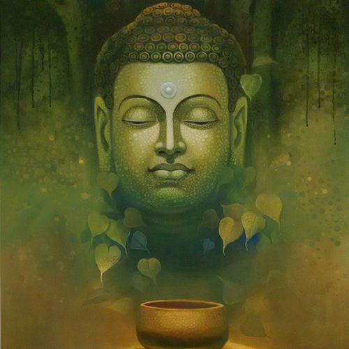 Buddha meditation paintings the image for Buddha mural paintings