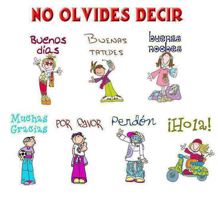 Buenos modales. on Pinterest | Good Manners, Manners and Mesas