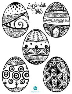 easter egg zentangle - Google Search