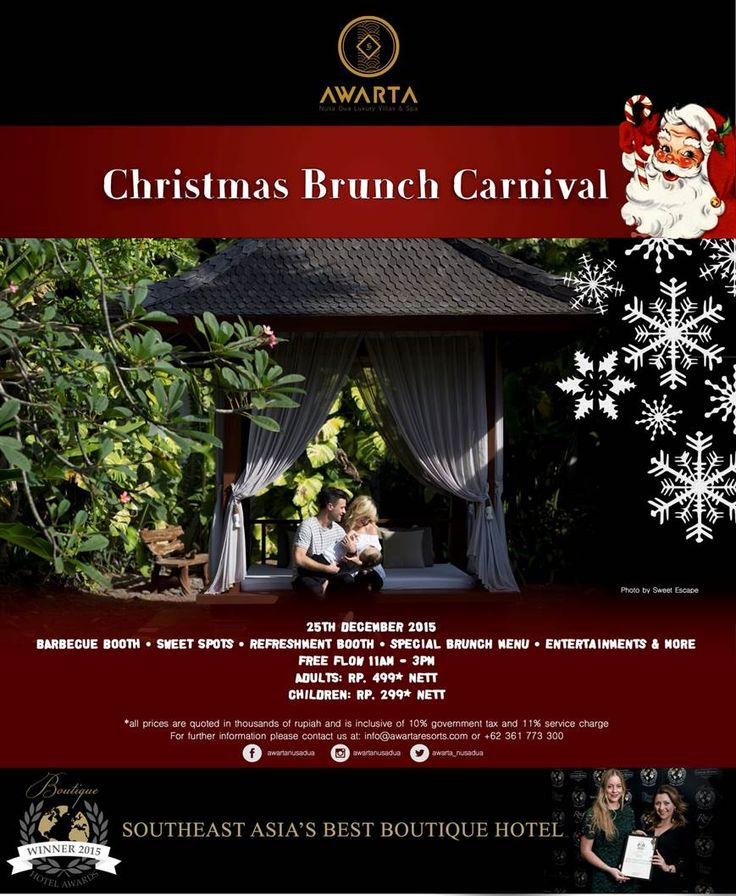 Christmas Brunch Carnival @ Awarta Nusa Dua