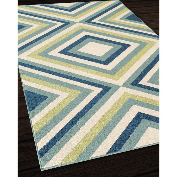 Living Room Indoor Outdoor Multi Zig Zag Rug 710 X