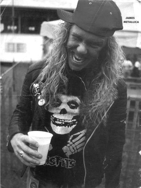 James Hetfield - Metallica, da notare la maglia dei Misfits!!!