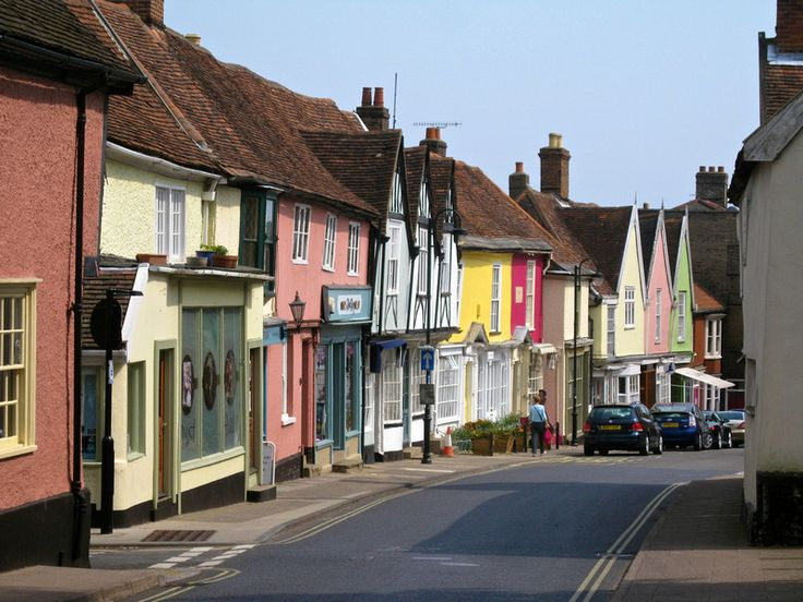 Woodbridge in Suffolk. Lovely street.