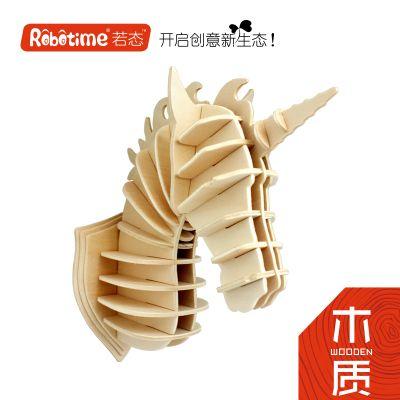 Robotime 3D modelo de construção de brinquedo de madeira presente do enigma Nova Casa decoração Da Parede Cabeça de Animal Unicórnio veado Antílope Elefante gado 1 pc em Puzzles de Brinquedos Hobbies & no AliExpress.com   Alibaba Group