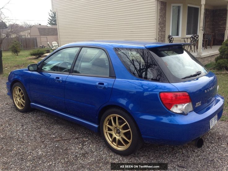 2004 subaru impreza wrx blue wagon this ones name was bubbles,  my daughter named it after apower puff girl. I put a stage 2 cobb package on her ( joe )