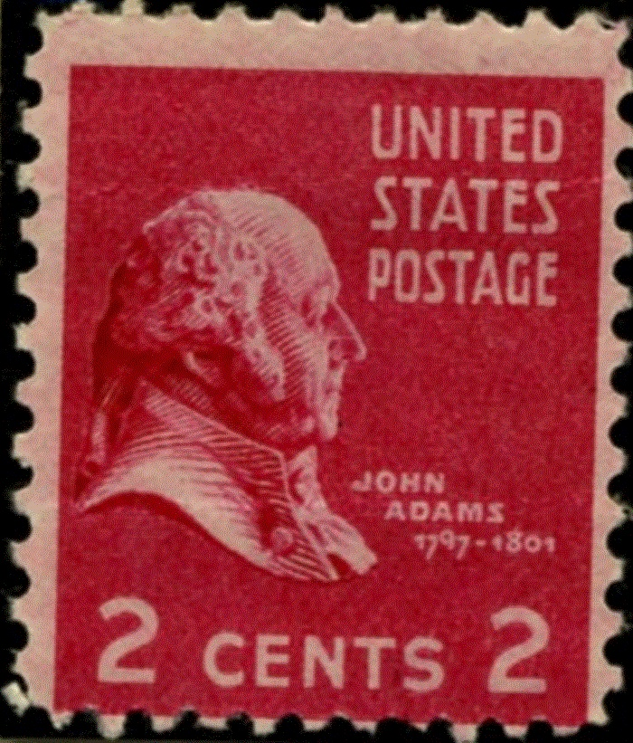 John Adams Stamp 2 Cents The Heretic Pinterest