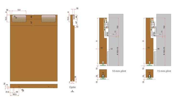 Voor de badkamer het maken en plaatsen van een houten schuifdeur.  Materiaal: Plexwood (massief of anders), afwerking lak of olie  Afmetingen:  de deur moet plafondhoog reiken, plafondhoogte = 298cm  De precieze afmetingen worden door de vakman opgemeten. Dikte nog te bespreken afh van stevigheid  Schuifdeur garnituur: Argenta Slide Linea  zie foto's (wordt door mij aangeleverd)  De opdracht is het aanleveren en fabriceren van de deur. bevestigen van garnituur zoals voorgeschreven en...