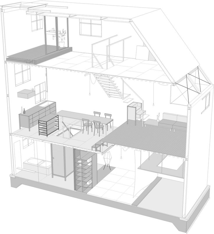 Architecture Drawing Of House