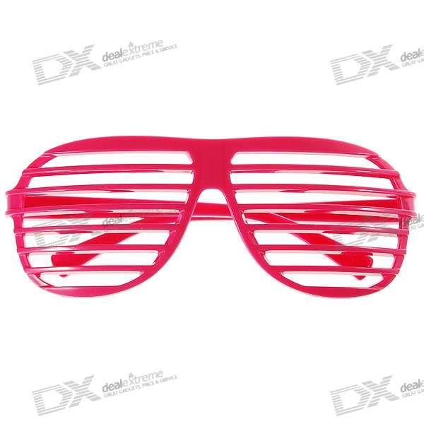 Pink PVC Stripe/Shutter Shades