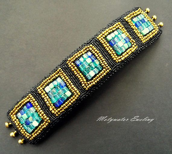 Bracelet with Stained Glass Effect