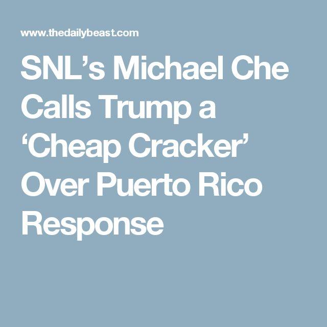 SNL's Michael Che Calls Trump a 'Cheap Cracker' Over Puerto Rico Response
