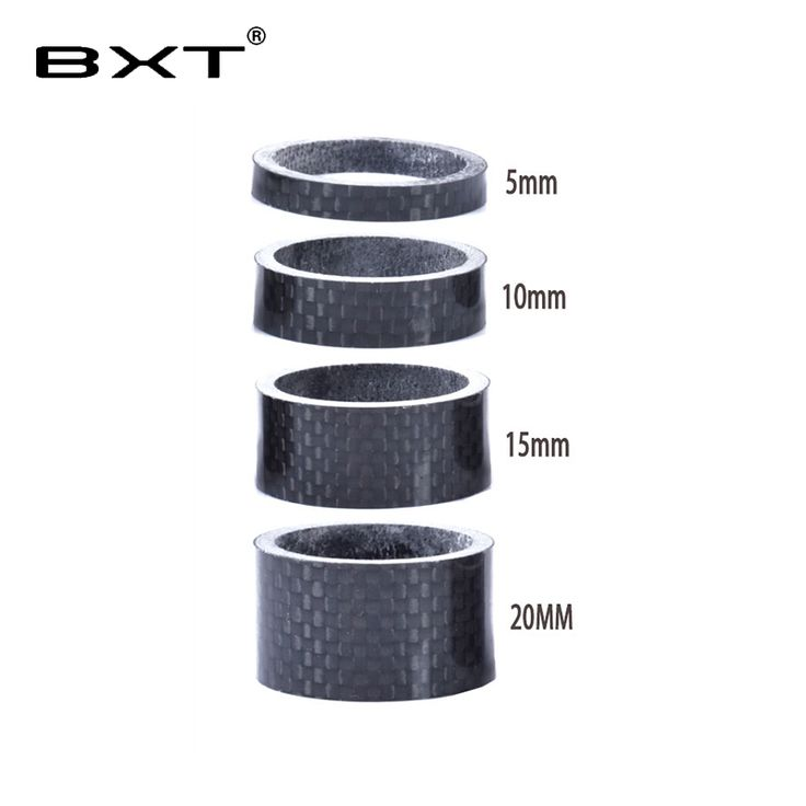 """1 1/8"""" Full Carbon Fibre 3k glossy Spacer Headset Fork Washer 5mm 10mm 15mm 20mm 4pcs/set bicycle parts //Price: $15.95 & FREE Shipping //     #hashtag3"""