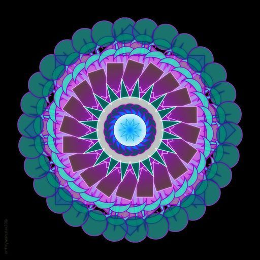 """Check out my art piece """"Mandala - Essence of Fluorite"""" on crated.com"""