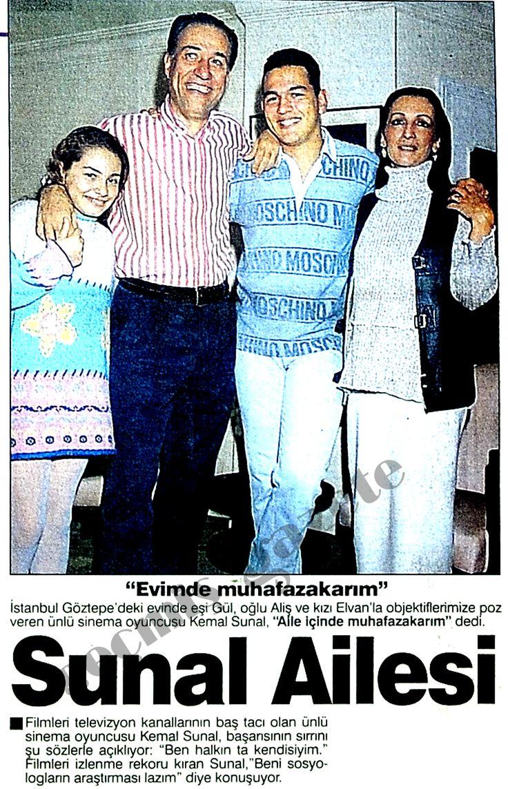 Kemal Sunal ve ailesi. Ali ne kadar da tıfılmışın.