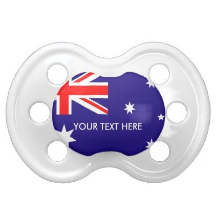 Baby gifts 19962 pinterest australian flag of australia custom baby pacifier baby gifts child new born gift idea diy negle Images