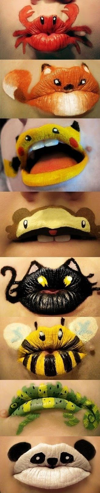 Lip animals super cute ideas