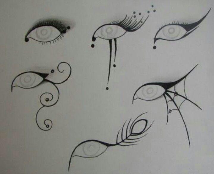 Halloween eye makeup ideas                                                                                                                                                                                 More
