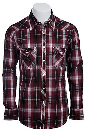 Rock & Roll Cowboy Men's L/S Western Snap Shirt B2S5110 | Cavender's