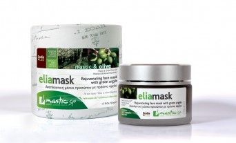 Rejuvenating face mask with green argyle All Skin Types With Mastic & Greek Olive Oil  Ages: 37+  1,7 fl.oz/ 50 ml  Free of: Parabens Mineral Oil, propylene glycol, ethanolamine, triethanolamine. Dermatologically tested  - See more at: http://www.greekpharma.com/shop/mastic-olive-elia-mask-50ml/#sthash.f7q2X2vp.dpuf