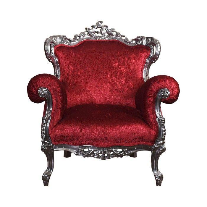 Красное кресло в стиле барокко