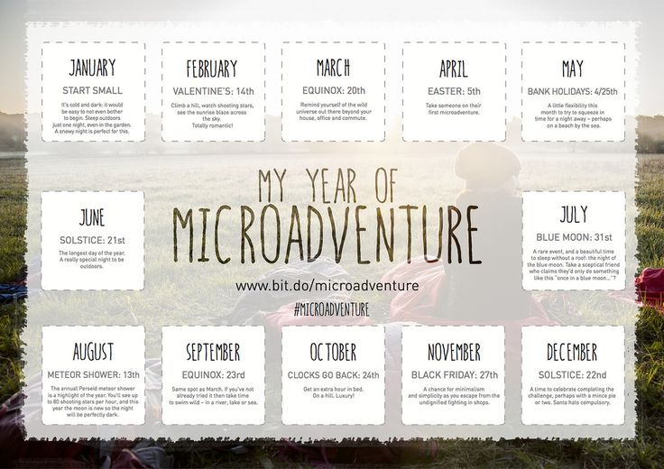 Are you up for trying 12 adventures in 2015? Here's a way to make it happen.