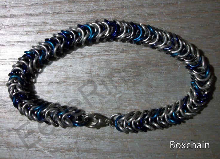 Zelfgemaakte Boxchain (kleine ringen) armband. Deze maak ik op bestelling in bijna alle mogelijke kleuren.