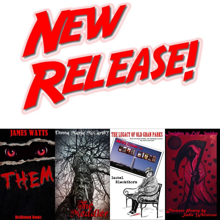 March Madness must be in the air!  HellBound Books Publishing are proud to present not one, not two - no, not even three! - but FOUR brand new books for your delectation! We think there's something here for everyone!  So, go on - go a little mad! #horror #horrornovels #dark #fiction #darkpoetry #evil #newreleases #marchmadness
