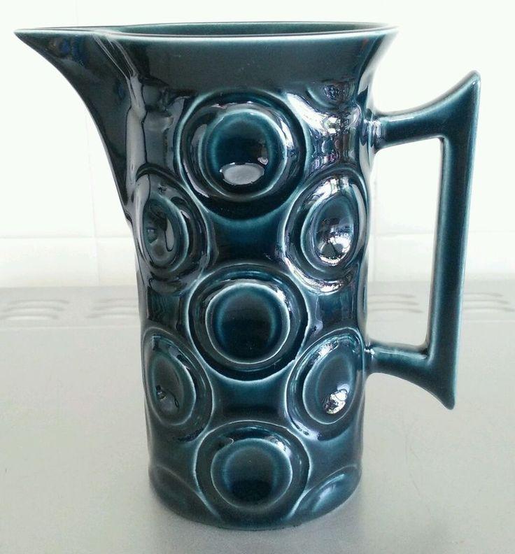 "Portmeirion Jupiter Jug, in Blue by Susan William-Ellis, 5"" Tall."