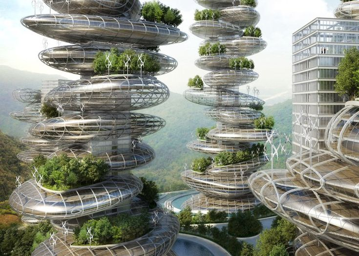 Vincent Callebaut designs farmscrapers for Shenzhen, China for a concept to bring natural ecosystems into cities.