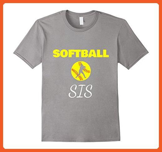 Mens Softball Sis Funny Shirt gift 2XL Slate - Funny shirts (*Partner-Link)