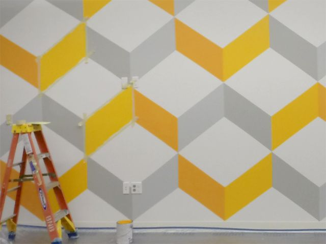 4 ways to create a chevron wall pattern: Chevron patterns on a budget