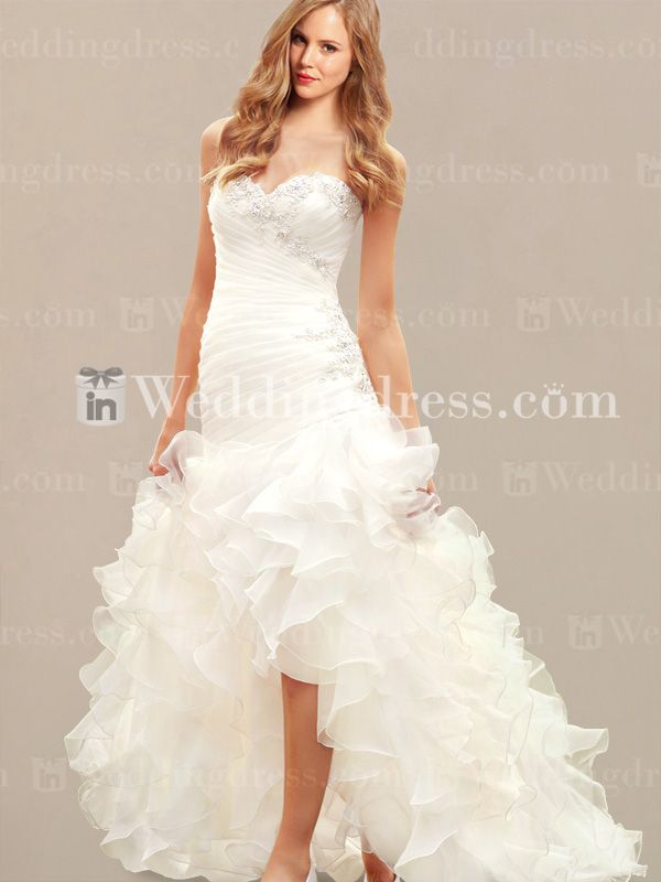 Drop Waist Beach Wedding Dress with High-Low Skirt BC455  Also found this dress on http://www.morilee.com/Bridals/voyage/6743