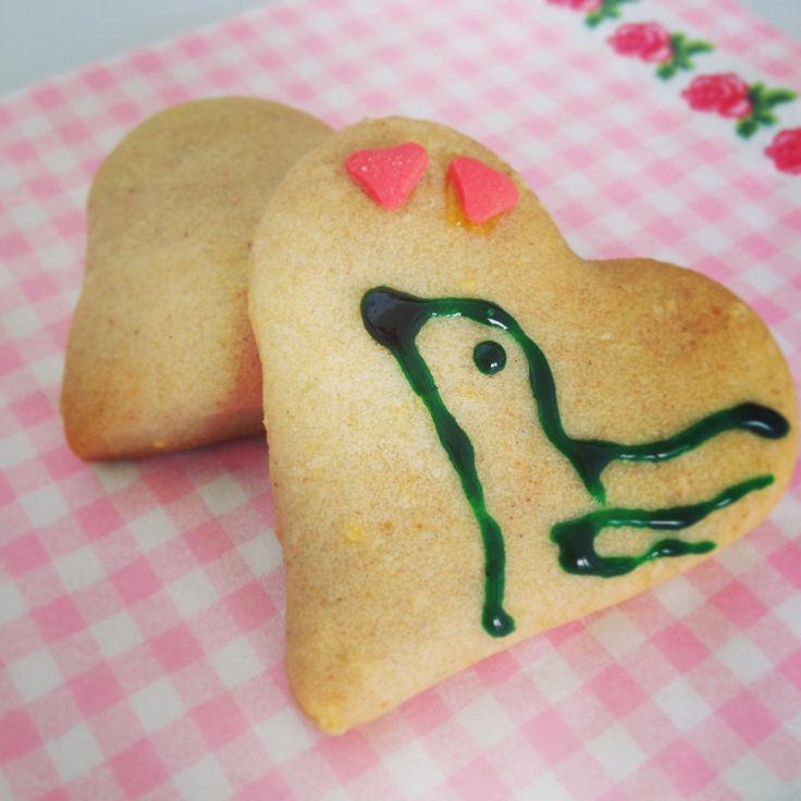 Vegane Buchweizen-Kekse in Herzform