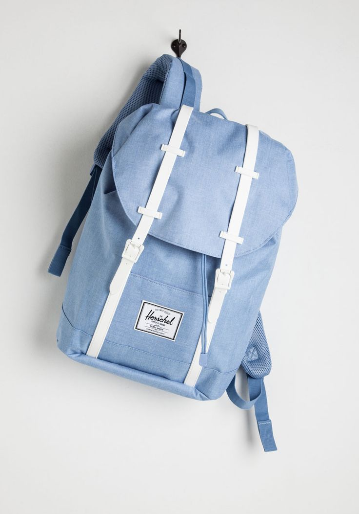 Pack and Forth Backpack. Trips to and from your lakeside lodge are a breeze, thanks to this sky-blue backpack from Herschel Supply Co.! #blue #modcloth