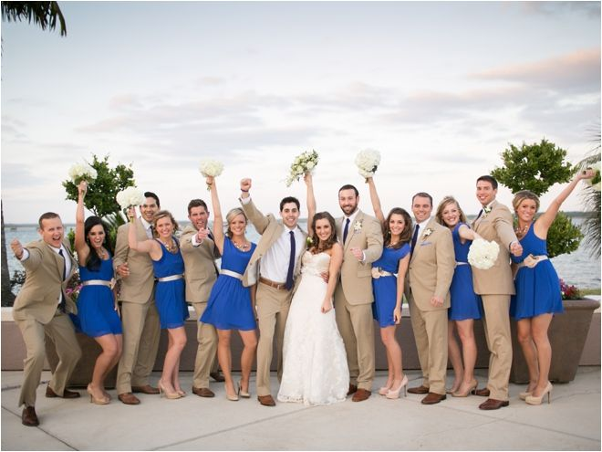 Navy Blue And Beige Theme For Wedding Party Photo Sarah Ainsworth Wih S Planning Blog