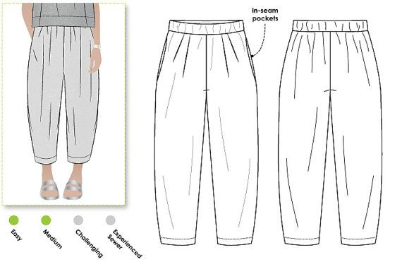Ethel Designer Pant - Sizes 10, 12, 14 - Women's designer pant PDF Sewing Pattern by Style Arc - Sewing Project - Digital Pattern